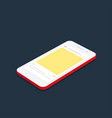isometric concept smartphone with social network vector image vector image