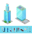 Isometric Skyscraper City Office Building vector image vector image