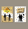 its your birthday cards set vector image vector image