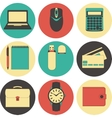 Line icons set icons for business management vector image vector image