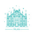 line of milan cathedral milan vector image