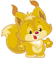 little squirrel vector image vector image