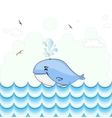 Little whale card design vector image