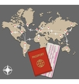 map jet routes passport vector image vector image