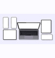 minimalistic set device vector image vector image