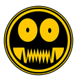 Monster button vector image vector image