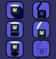 Multicooker icons set vector image