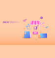 online shopping modern flat concept buying online vector image vector image