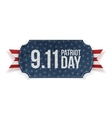 patriot day 9-11 realistic banner vector image vector image