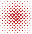 Red and white heart pattern background vector image vector image