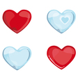 Red Blue Hearts vector image vector image