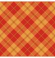 Red brown yellow tartan seamless texture vector image vector image