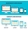 Responsive Web Design Gadgets and Devices Flat vector image vector image