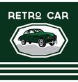 retro car old vintage poster vector image vector image