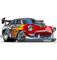Retro cartoon hotrod vector | Price: 3 Credits (USD $3)