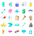 scrubbing icons set cartoon style vector image vector image