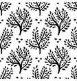 seamless floral ornament hand drawn trees forest vector image vector image