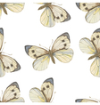 Seamless pattern Watercolor butterfly vector image vector image