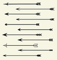 Set arrows vector image vector image