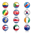 Set circle icon Flags of world sovereign states vector image vector image