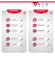 set gray web buttons vector image