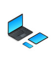 set modern isometric gadgets 3d laptop tablet vector image vector image