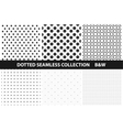 Simple dotted patterns Seamless vector image vector image