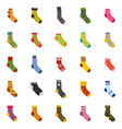 socks textile icons set isolated vector image