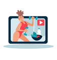 sport and fitness blogger healthy lifestyle and vector image