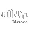 tallahassee city one line drawing vector image vector image
