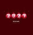 template for new year or christmas project new vector image