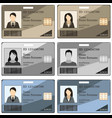 template id card vector image vector image