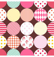 tile patchwork pattern with pastel polka dots vector image vector image