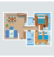 Top View Flat Interior Plan vector image vector image