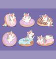 unicorn dessert magic cute little rose pony with vector image vector image