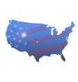 united states outline map and flag vector image vector image