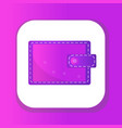 wallet icon flat design closed wallet isolated vector image