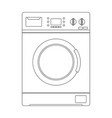 washing machine outline icon vector image