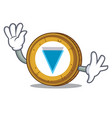 waving verge coin character cartoon vector image vector image