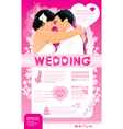 wedding infographic set vector image vector image