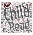 Why You Should Read To Your Child text background vector image vector image