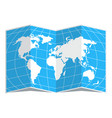 world map blue in spread vector image