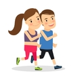 Young fitness runners vector image vector image