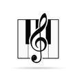 violin key icon vector image