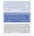 Computer keyboards vector image