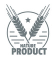 wheat logo simple gray style vector image