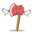money eye axe character cartoon style vector image