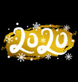 2020 happy new year with gold glitter effect vector image vector image
