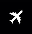 airplane sign logo icon vector image vector image