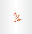 arrow spread icon design vector image vector image